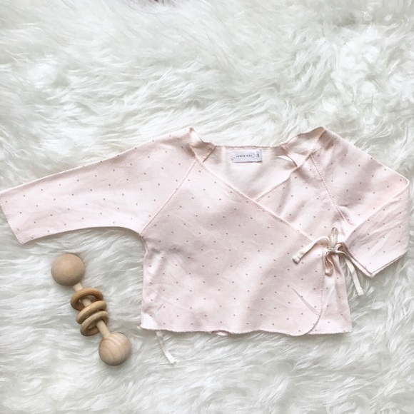 c119e6959 Jamie Kay Shirts & Tops | Pink Polka Dot Kimono Top | Poshmark
